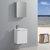 "Fresca Valencia 20"" Glossy White Wall Hung Modern Bathroom Vanity w/ Medicine Cabinet, Vanity Base: 19-11/16"" W x 11-4/5"" D x 23-3/5"" H, Medicine Cabinet: 15"" W x 5"" D x 26"" H"