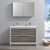 """48"""" Ash Gray Double Sink Front View 2"""