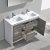 """48"""" Ash Gray Double Sink Overhead Opened View"""
