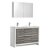 """48"""" Ash Gray Double Sink Angle Product View"""