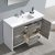 """48"""" Ash Gray Single Sink Overhead Opened View"""