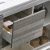"""48"""" Ash Gray Single Sink Drawer Opened View"""