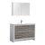 "48"" Ash Gray Single Sink Angle Product View"