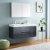"48"" Dark Slate Gray Double Sink Vanity w/ Medicine Cabinet"