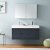 """48"""" Dark Slate Gray Double Sink Front View"""