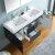 "48"" Dark Slate Gray Double Sink Overhead Opened View"