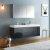 "60"" Dark Slate Gray Double Sink Vanity w/ Medicine Cabinet"