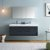 """60"""" Dark Slate Gray Double Sink Front View"""