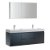 "60"" Dark Slate Gray Double Sink Angle Product View"