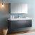 "60"" Dark Slate Gray Vanity w/ Medicine Cabinet"