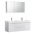 "60"" Glossy White Double Sink Angle Product View"