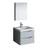 "24"" Glossy Gray Full Vanity Set Product View"