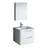 "24"" Glossy White Full Vanity Set Product View"