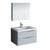 "32"" Glossy Gray Full Vanity Set Product View"