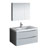 "36"" Glossy Gray Full Vanity Set Product View"