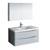 "40"" Glossy Gray Full Vanity Set Product View"
