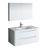 "40"" Glossy White Full Vanity Set Product View"