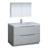 Glossy Gray Single Full Vanity Set Product View