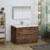 Rosewood Cabinet Full Vanity Set Side View