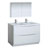 Glossy White Double Full Vanity Set Product View