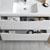 Glossy White Single Full Vanity Set Drawers Open Close Up