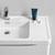 Glossy White Single Full Vanity Set Top