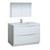Glossy White Single Full Vanity Set Product View