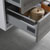 "24"" Glossy Ash Gray Full Vanity Set Tiered Drawers"