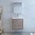 """24"""" Rustic Natural Wood Full Vanity Set Front View"""