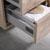 "24"" Rustic Natural Wood Full Vanity Set Tiered Drawers"
