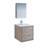 """24"""" Rustic Natural Wood Full Vanity Set Product View"""