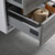 "30"" Glossy Ash Gray Full Vanity Set Tiered Drawers"