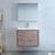 """30"""" Rustic Natural Wood Full Vanity Set Front View"""