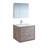 """30"""" Rustic Natural Wood Full Vanity Set Product View"""