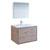 """36"""" Rustic Natural Wood Full Vanity Set Product View"""