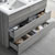 Glossy Ash Gray Double Vanity Set Tiered Drawers