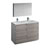 Glossy Ash Gray Double Vanity Set Product View