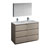 Gray Wood Double Vanity Set Product View