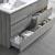 "60"" Glossy Ash Gray with Medicine Cabinet and Sink Tiered Drawers"