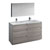 "60"" Glossy Ash Gray with Medicine Cabinet and Sink Product View"