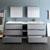 Gray Full Vanity Set Drawers Open