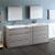 Glossy Ash Gray Full Vanity Set Side View
