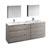 Glossy Ash Gray Full Vanity Set Product View