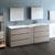 Gray Wood Full Vanity Set Side View
