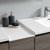 Gray Wood Full Vanity Set Cabinet Top