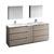 Gray Wood Full Vanity Set Product View