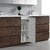 Rosewood Full Vanity Set Cabinet Open