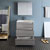 "30"" Glossy Ash Gray Full Vanity Sets Drawers Open"