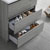 "30"" Glossy Ash Gray Full Vanity Sets Tiered Drawers"