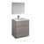 "30"" Glossy Ash Gray Full Vanity Sets Product View"